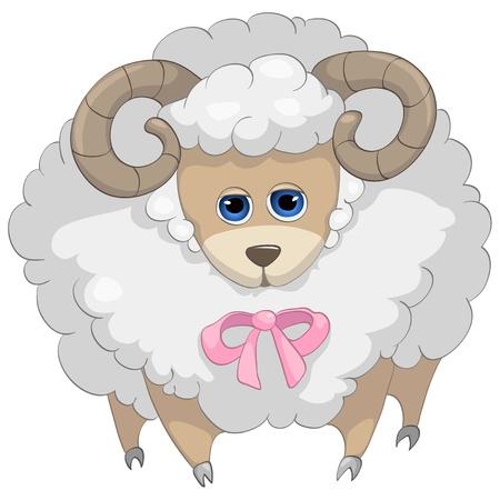Cartoon Character Sheep Vector