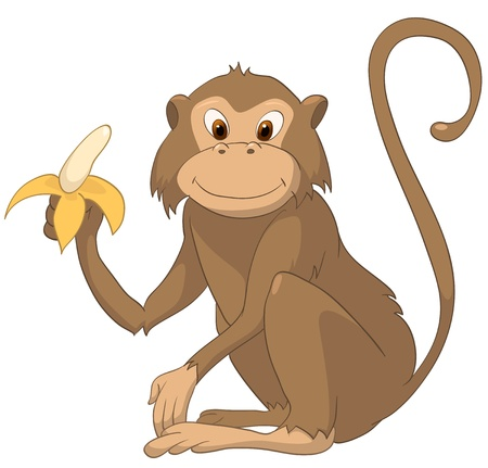 Cartoon Character Monkey Stock Illustratie