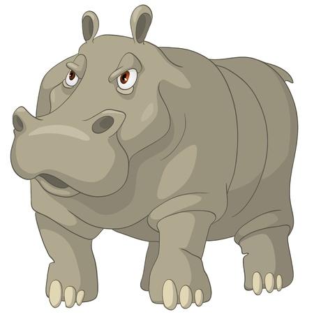 Hippopotamus personnage de dessin animé Banque d'images - 10614001