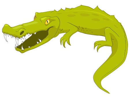ferocious: Cartoon Character Crocodile