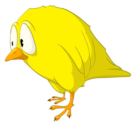 Cartoon Character Melancholy Bird Ilustracja