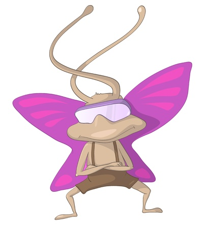 artful: Cartoon Character Artful Pilot Butterfly