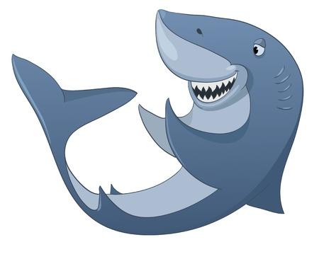 babyish animal: Cartoon Character Shark Illustration