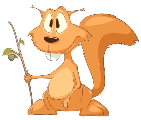 Cartoon Character Squirrel