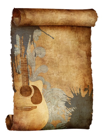 guitar illustration: Old Paper Texture