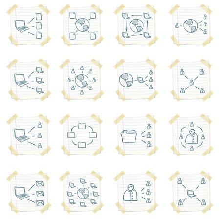 Icon Set autocollant Banque d'images - 10894106