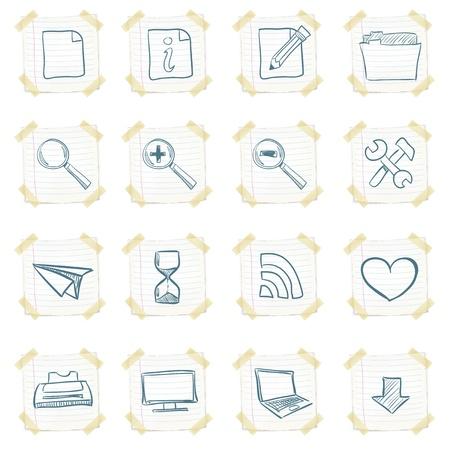 sticky note: Sticker Icon Set