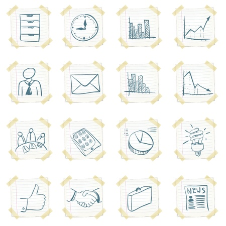 Sticker Icon Set Stock Vector - 10894098