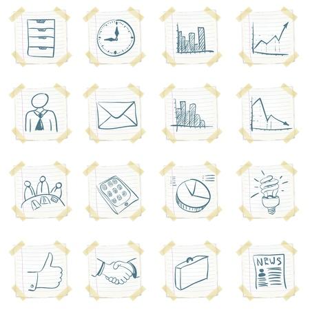briefing: Sticker Icon Set
