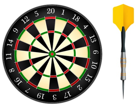 Darts Board Ilustrace