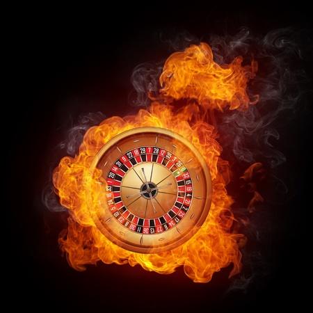 roulette game: Casino Roulette Stock Photo