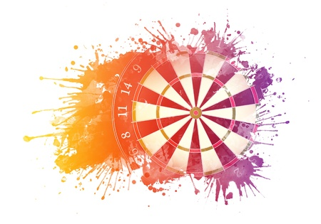 dart board: Darts Board Stock Photo