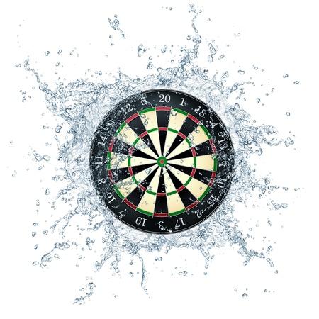 black liquid: Darts Board Stock Photo