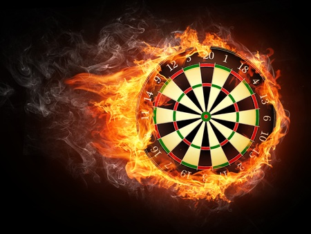 creative target: Darts Board Stock Photo