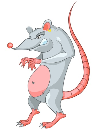 Cartoon Character Rat Vector