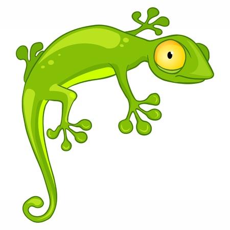 lizard: Lagarto de dibujos animados car�cter Vectores