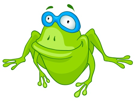 Cartoon Character Frog Vector