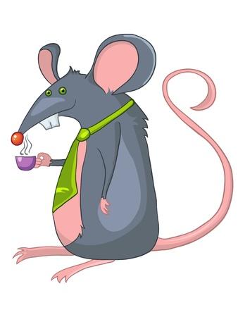 babyish animal: Cartoon Character Rat
