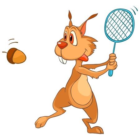 Cartoon Character Squirrel Stock Vector - 11235110