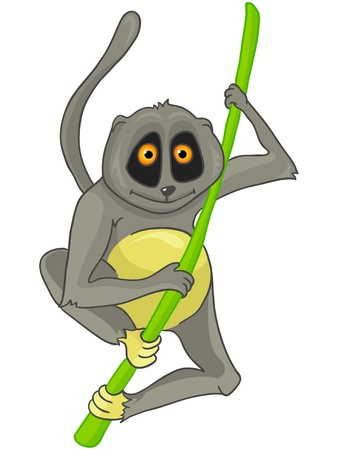 lemur: Cartoon Character Lemur