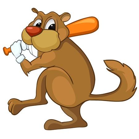 Cartoon Character Beaver Vector