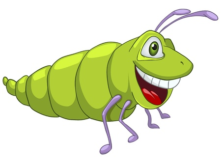 Cartoon Character Caterpillar