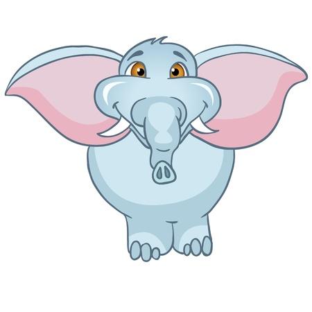 Elefante del personaje de dibujos Foto de archivo - 11274924