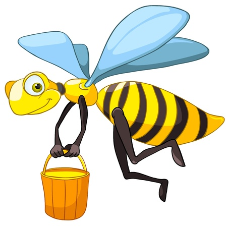 Cartoon Character Bee Vector