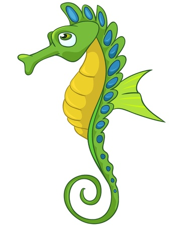 Cartoon Character Seahorse Stock Photo - 11382737
