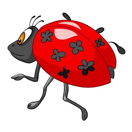 만화 캐릭터의 무당 벌레