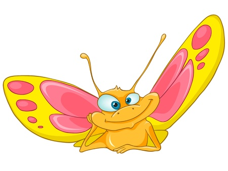 butterfly: Cartoon Character Butterfly