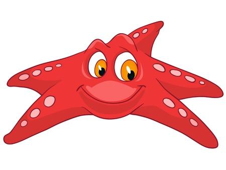 fish star: Estrella de caracteres de dibujos animados Vectores