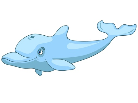 Cartoon Character Dolphin Vector