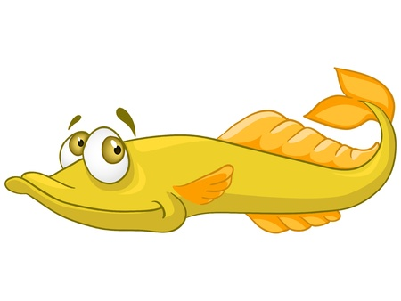 peces caricatura: Cartoon Pike caracteres