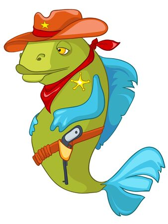 Cartoon Character Fish Sheriff
