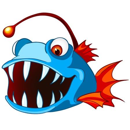 caricatura: Personajes de dibujos animados de pescado