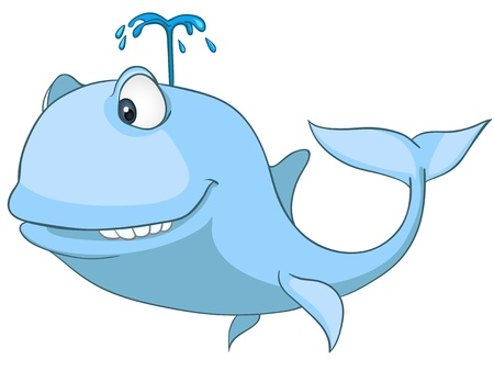 Cartoon Character Whale Vector
