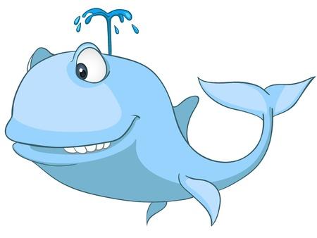 Cartoon Character Whale