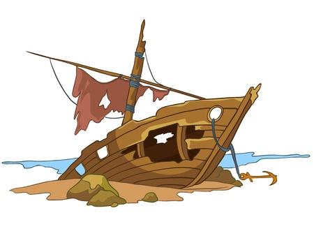ship anchor: Cartoon Underwater