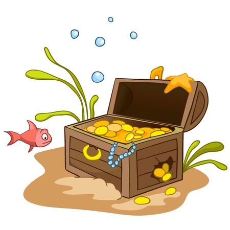 Cartoon Onderwater Vector Illustratie