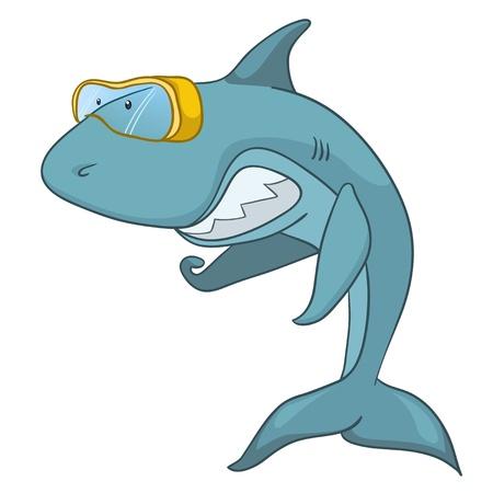 personalidad: Caricatura de tibur�n caracteres Vectores