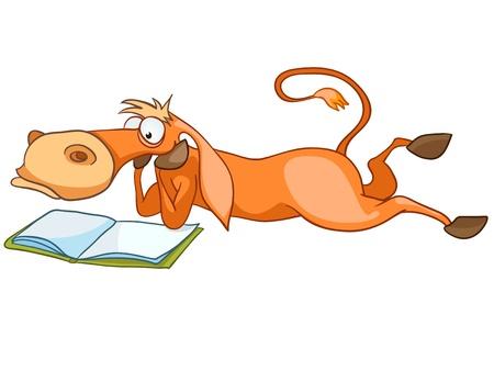Caballo de dibujos animados carácter Ilustración de vector