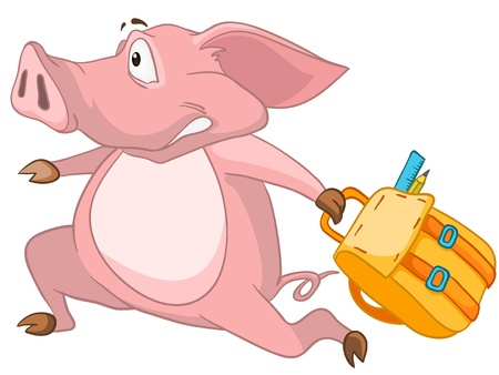 Cartoon Character Pig Stock Vector - 11882227