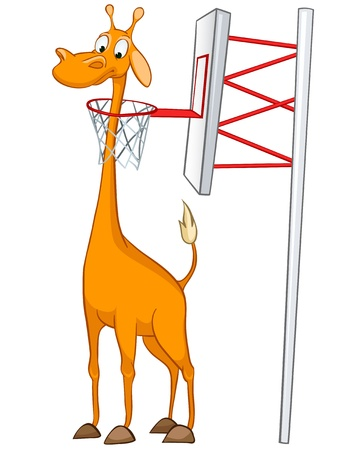 Giraffe Cartoon Character Banque d'images - 11929396