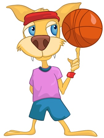 child sport: Cartoon Character Cat Illustration