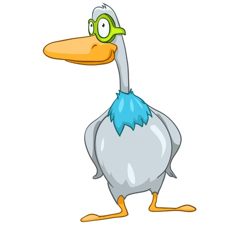 baby toy: Cartoon Character Goose Illustration