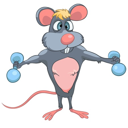 bodybuilding: Cartoon Character Mouse