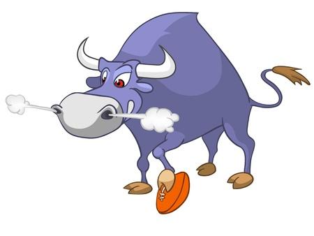 Cartoon Character Bull Vector