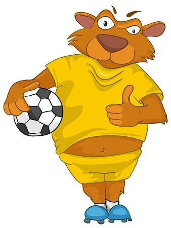 żartować: Niedźwiedź Cartoon Character Ilustracja