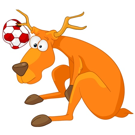 Cartoon Character Deer Stock Vector - 11929390